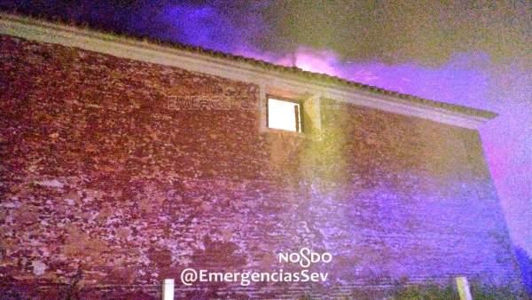 Sevilla.-Sucesos.- Investigan la presunta autoría del incendio en la Hacienda Ibarburu este viernes en Dos Hermanas
