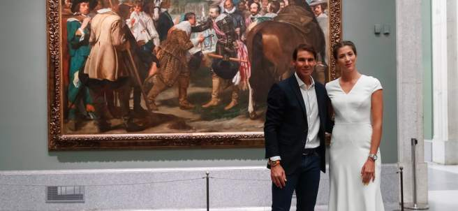 Rafa Nadal y Garbiñe Muguruza, en el Museo del Prado