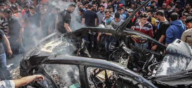 Bombardeo aéreo de Israel en Gaza