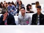 Cinco jóvenes declaran en la Audiencia Nacional acusados de ensalzar el terrorismo yihadista a través de una página de Faceboook.