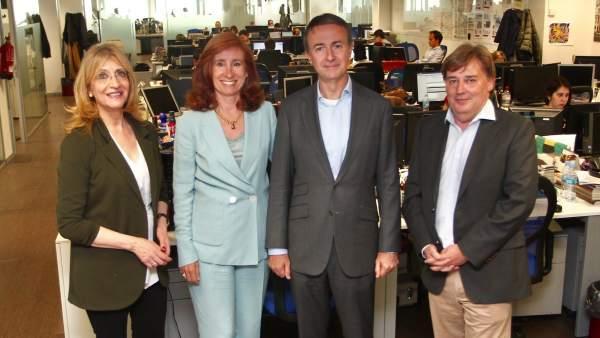 Encarna Samitier, Marta Pérez Dorao, Enrique Polo de Lara y José Manuel Lozano.