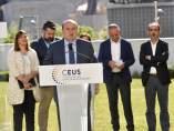 Andoni Ortuzar, en la presentación de CEUS, coalición con la que el PNV concurre a las elecciones europeas.