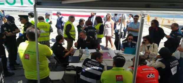 Cádiz.- La Junta participa en un simulacro de emergencia por enfermedad infecciosa en un buque organizado por la Armada