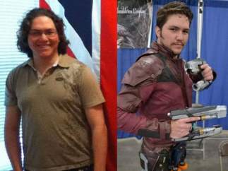Un cosplayer se transforma en Chris Pratt