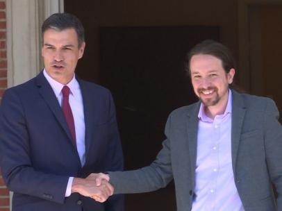 Sánchez recibe a Iglesias en La Moncloa