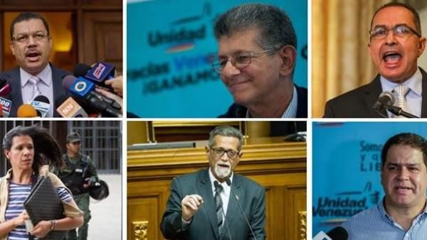 Diputados opositores venezolanos