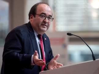 Miquel Iceta, en un acto a principios de 2019.