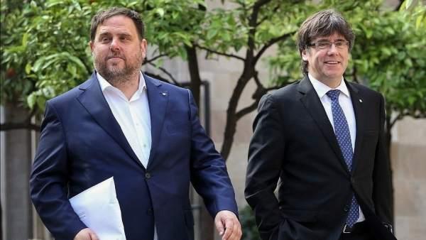 Oriol Junqueras y Carles Puigdemont, en una imagen de archivo