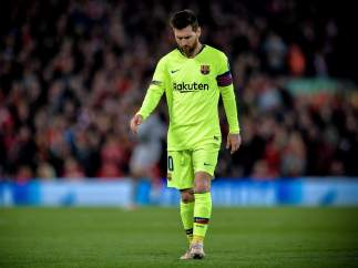 Messi, tras caer en Anfield Road
