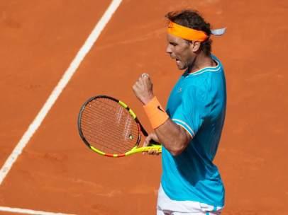 El tenista español Rafael Nadal, en el Mutua Madrid Open.