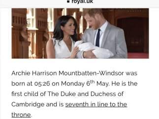 Error en la web de la Familia Real Británica