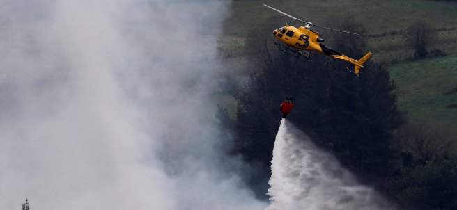 Estabilizan el incendio de Asturias
