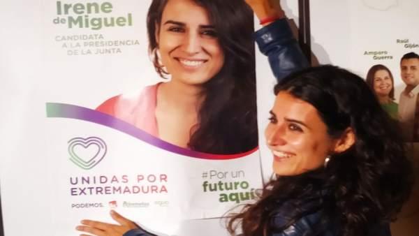 26M.- De Miguel Reafirma Que Unidas Por Extremadura Es La 'Única Garantía Real De Cambio' Para Las Mayorías Sociales
