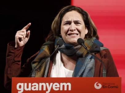La alcaldesa de Barcelona y candidata de Barcelona en Comú a la reelección, Ada Colau.