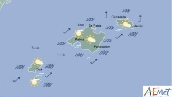 Predicción meteorológica para este viernes 10 de mayo en Baleares: cielo poco nuboso, temperaturas diurnas en ascenso