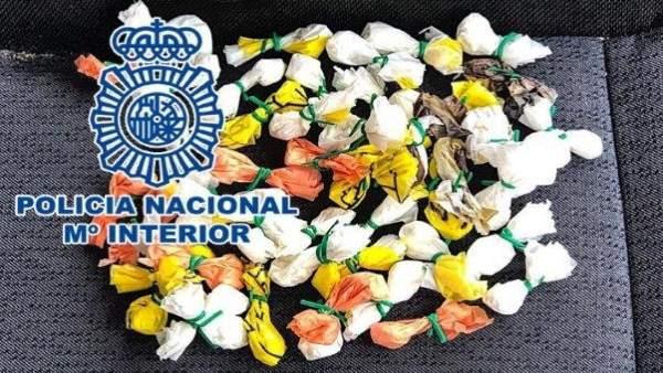 Alicante.- Sucesos.- Detenido en un control de Elche un joven que llevaba 50 envoltorios de cocaína para vender