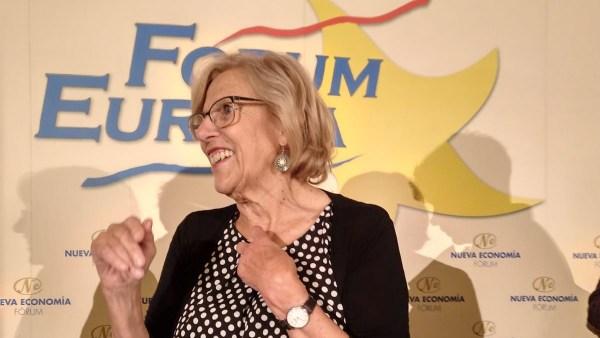 Carmena en el Forum Europa.