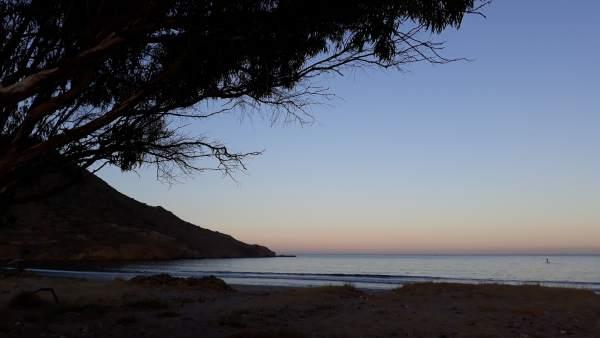Playa de Genoveses, en Almería