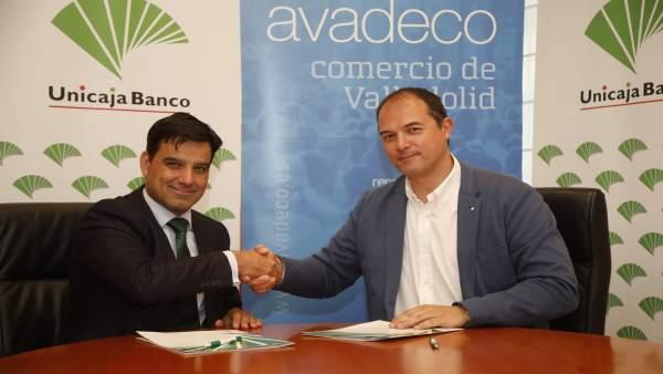 Unicaja Banco renueva su apoyo a la Asociación Vallisoletana de Comercio(Avadeco) y a sus 500 establecimientos