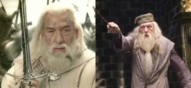 Gandalf y Dumbledore