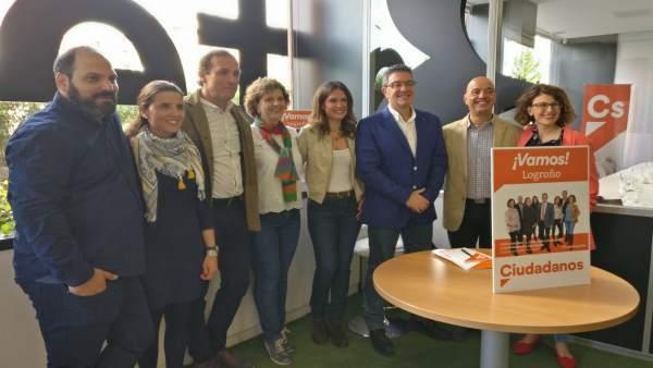 26M.- San Martín (Cs) Presenta Quince Líneas Programáticas Para Diseñar El 'Logroño Del Futuro'