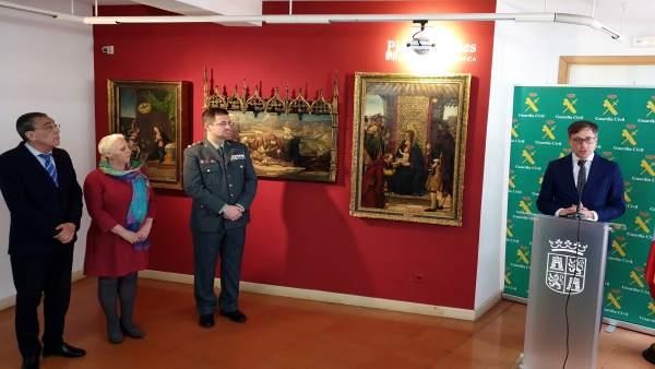 La Guardia Civil de Salamanca busca a los propietarios de tres obras de arte de los siglos XV y XVI