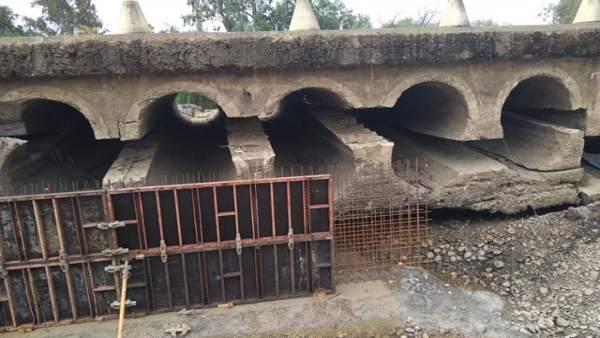La obra en el badén de Torremayor van 'a buen ritmo' y acabará antes de la época de más actividad de la campaña agrícola