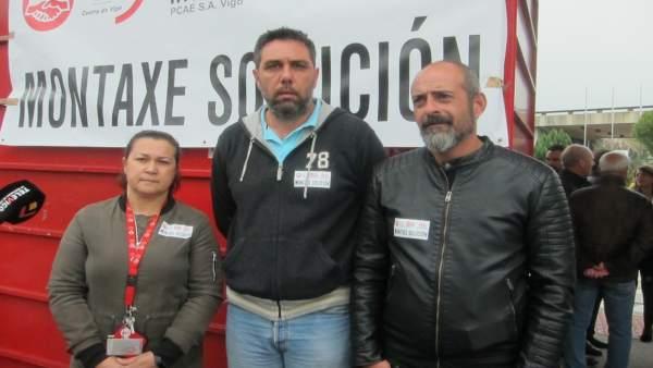 CIG, CC.OO. Y UGT abandonan el encierro en la fábrica de PSA en Vigo y convocan una huelga para el próximo jueves