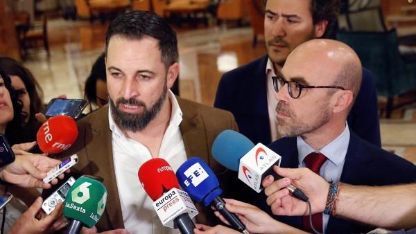 Santiago Abascal y Jorge Buxadé