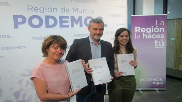 26M.- Podemos Equo Propone Más De 600 Medidas Para Un Gobierno 'De Futuro' Y 'Dar Un Vuelco De 180 Grados' A La Región