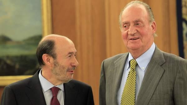 Rubalcaba y el rey Juan Carlos