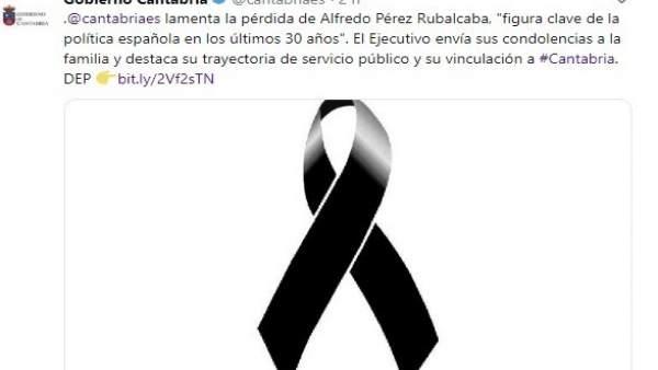 AMP.- Cantabria lamenta la pérdida de Pérez Rubalcaba, 'figura clave de la política española de los últimos 30 años'