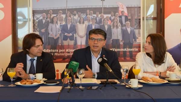 Almería.-26M.-Cazorla (Cs) afirma que 'sale a ganar' aunque también sería 'un éxito' sacar 'los mismos concejales'