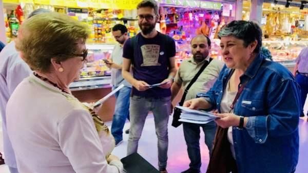 Jaén.- 26M.- Adelante Jaén elige el Mercado de San Francisco para mostrar su respaldo al pequeño y mediano comercio