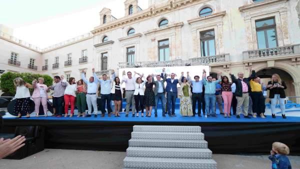 Almería.- 26M.- Fernández-Pacheco presenta la candidatura que protagonizará 'la mayor transformación' de Almería