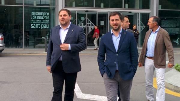 Oriol Junqueras y Toni Comín