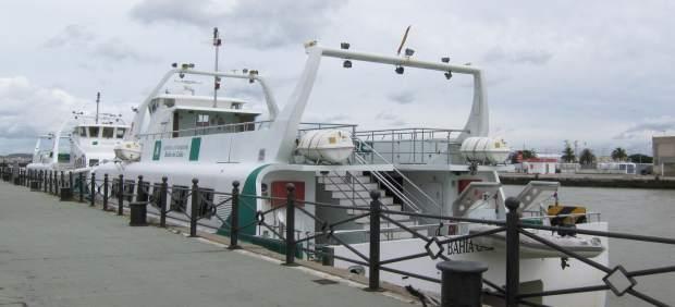 Cádiz.- Suspendidas las conexiones por catamarán entre Cádiz, El Puerto y Rota por el mal tiempo