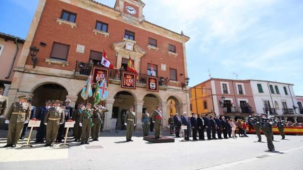 Más de un centenar de civiles jura bandera en Herrera de Pisuerga (Palencia)