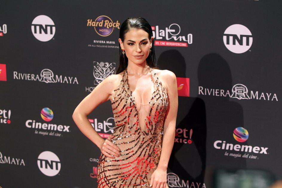 Carmen Muga. La actriz Carmen Muga posa para los fotógrafos a su llegada a la gala de los Premios Platino 2019.