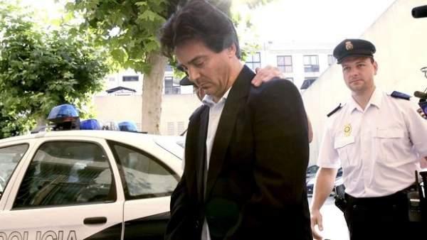 Rodrigo de Santos en los juzgados de Palma