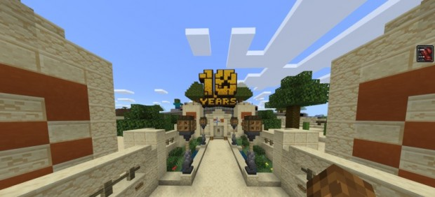 El mapa gigante por el décimo aniversario de 'Minecraft'