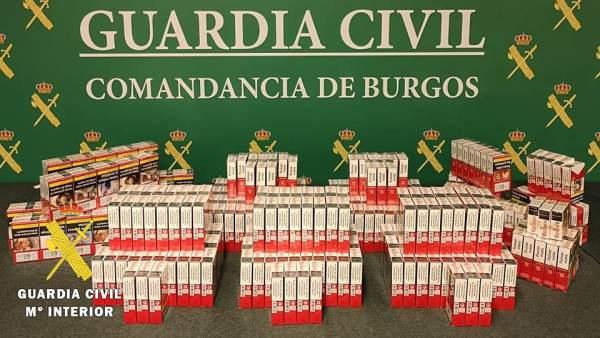 Sucesos.- Incautadas en un estanco de la provincia de Burgos 363 cajetillas de tabaco ilegal