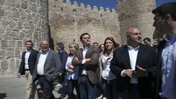 El presidente de Ciudadanos, Albert Rivera, visita Ávila