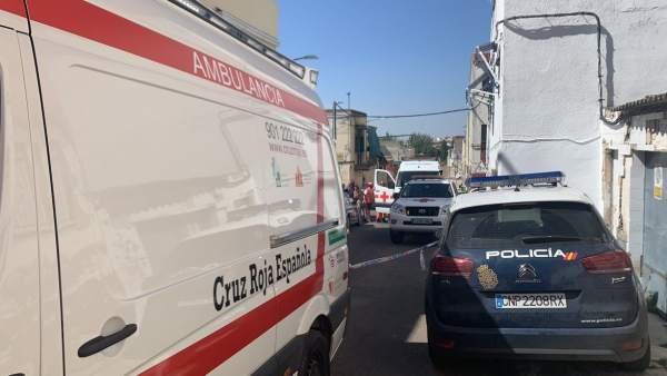 Fallece una anciana en el derrumbe de una vivienda en Badajoz