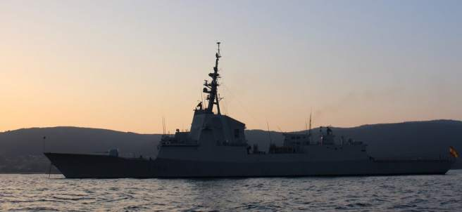 Fragata española retirada