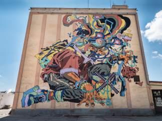 'Titanes': el arte urbano conquista los silos de Ciudad Real