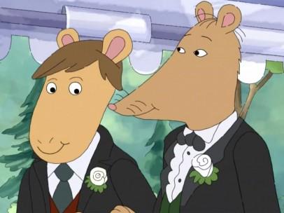 Mr. Ratburn y su marido Patrick