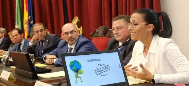 Sevilla.- La nadadora Teresa Perales participa en la jornada 'Transformación Digital y Sociedad' de la US