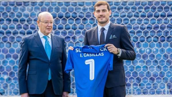 Pinto da Costa e Iker Casillas