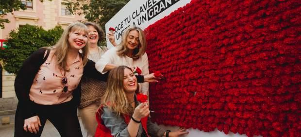 Córdoba.- Cruz Roja reparte más de 3.000 claveles en el centro de Córdoba por la igualdad y diversidad en el empleo